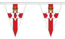 Northern Ireland Triangular Flag Bunting - 20m Long - 54 Flags